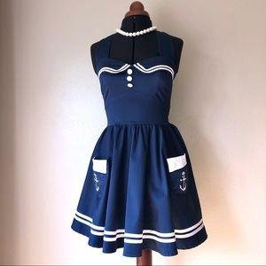 Hell Bunny Vixen Sailor Dress size M